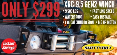 Smittybilt - XRC-9.5 Gen2 Winch on Sale! $299.99