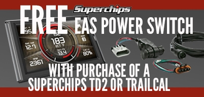 Superchips TD2 or TrailCal Energy Programmer Get a Free EAS Power Switch