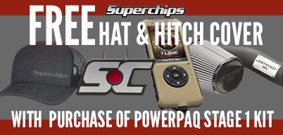 Superchips Powerpaq Free Hat/Hitch Cover