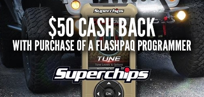 Superchips Flashpaq Programmers - $50 Mail In Rebate