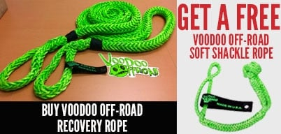 Voodoo Ropes Get a Free Shackle<