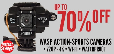 WASP Action-Sports Camera - UP TO 70% off!