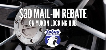 Yukon Locking Hubs $30 Mail-In Rebate