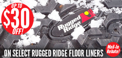 Rugged Ridge Up To $30 Cash Back on Floor Liners