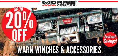 Up to 20% Off Warn Winches & Accessories