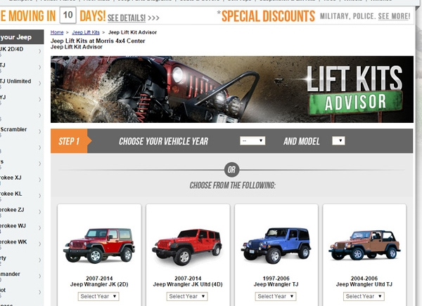 lift kits for your jeep wrangler and cherokees