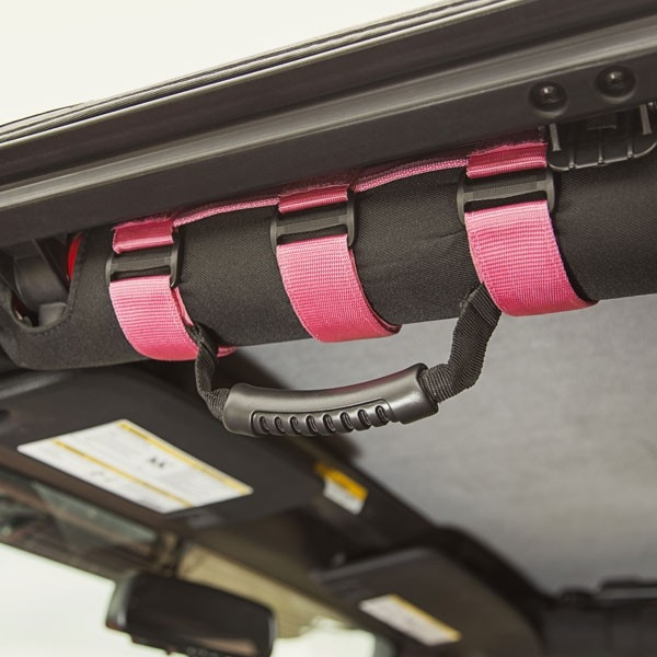 Pink Grab Handles for Jeep