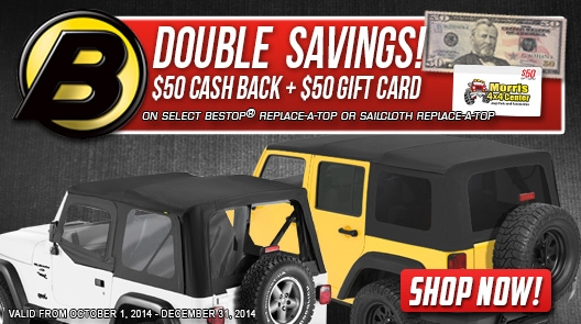 Bestop Replace-A-Top savings and deals for jeeps