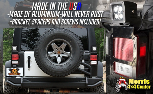 Morris 4x4 LED taillight brackets by wicked trails 4x4