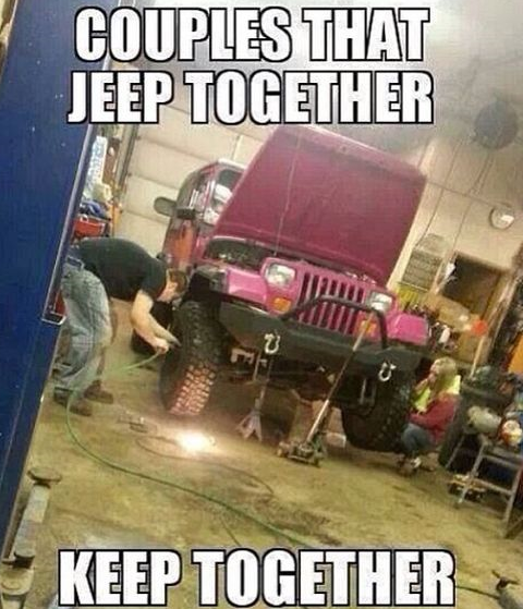 Couples that jeep together keep together