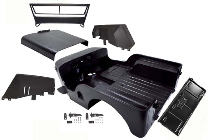 Omix jeep body tubs, hoods and fenders