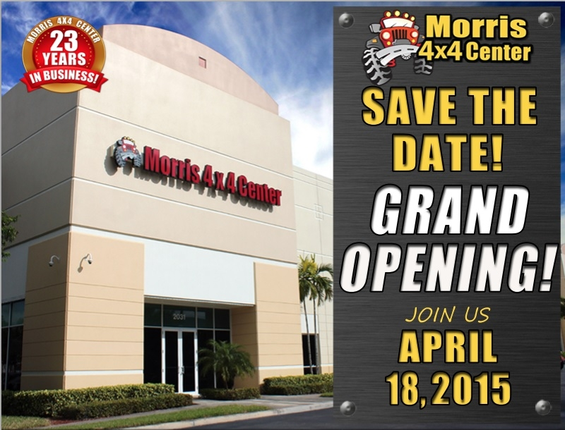 Grand Opening Celebration Morris 4x4 Center, pompano, florida
