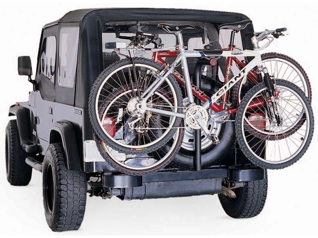 Jeep Spare Tire Bike Mount