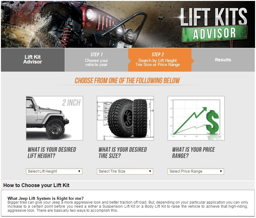 Jeep Lift Kits for wranglers and cherokees