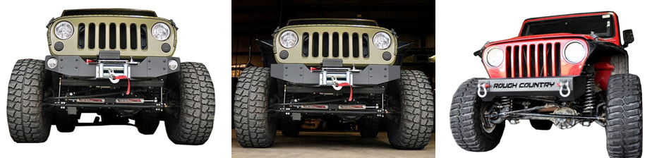 Rough Country Front Hybrid Stubby Winch Bumper Trio Under $300