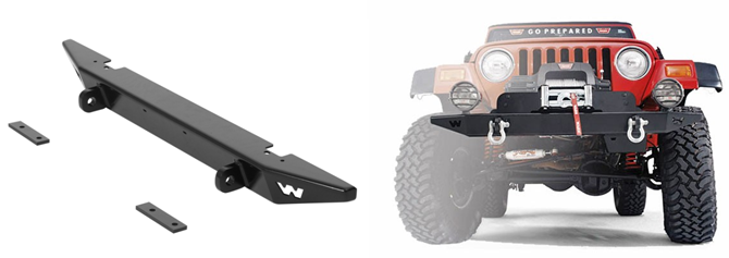 Warn Rock Crawler Front Bumper with D-Ring Mounts Under $300