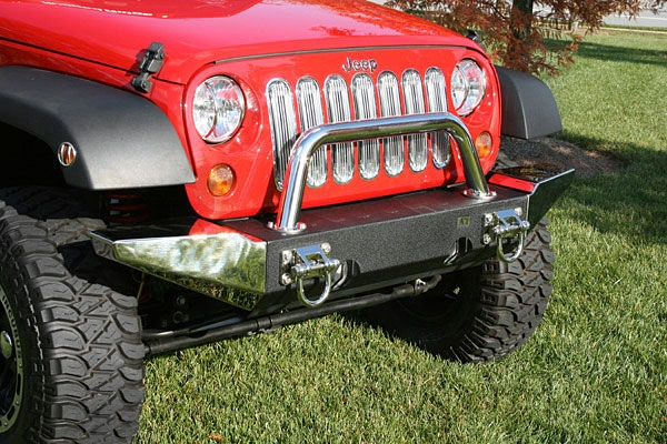 modular bumpers for jeeps with end caps