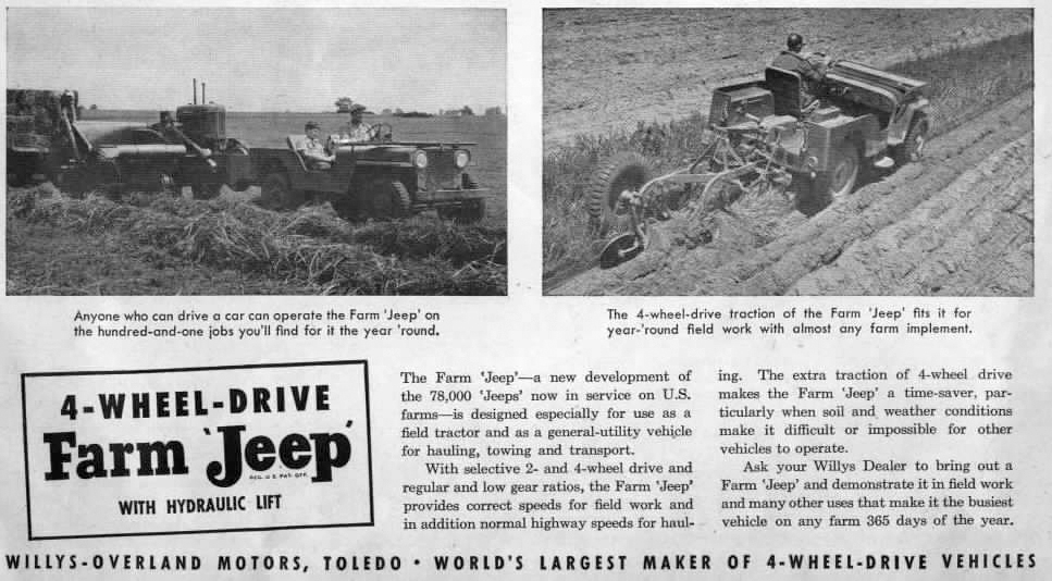 Wintage Farm Jeep Ad