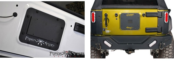 jeep tailgate vent covers
