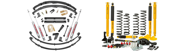 Two lift kits for Jeep JK