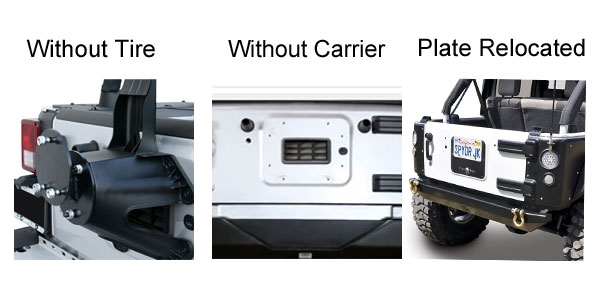 Jeep license plate relocation kits