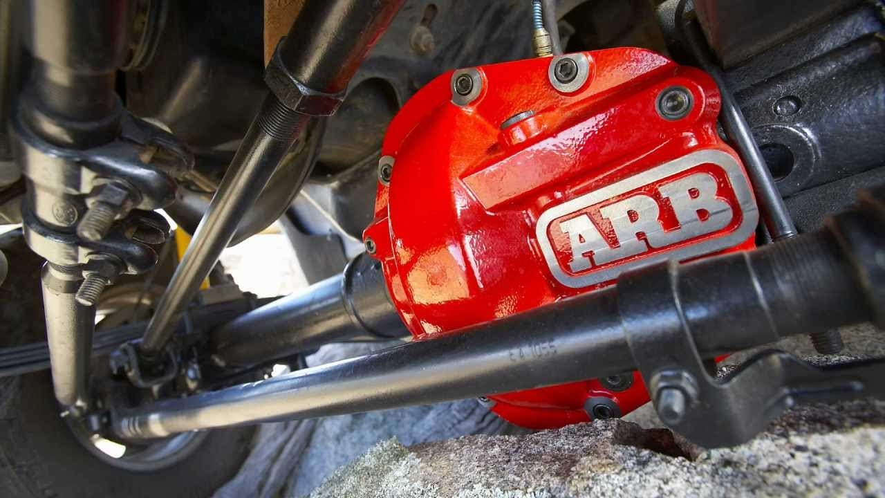 ARB Differential on Jeep Wrangler close up