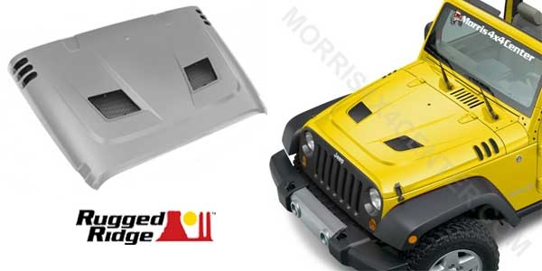 rugged ridge steel vented jeep hood morris 4x4 central