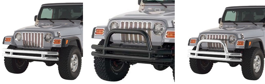 Smittybilt Tube Style Bumpers Under $300 In Gloss Black and Stainless Steel