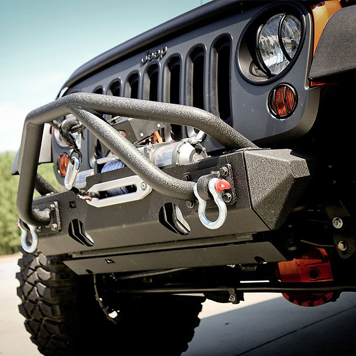 modular jeep bumpers with stingers