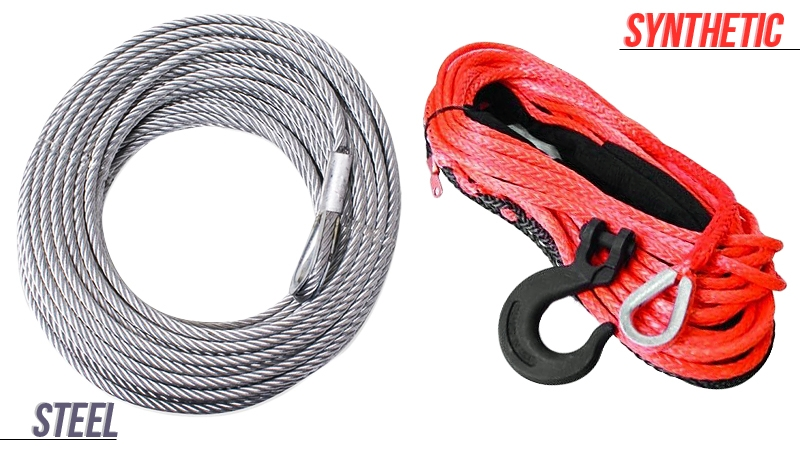 Synthetic vs. Steel Winch Cables